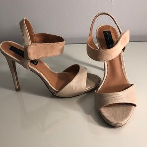 WORN ONCE- nude Steven by Steve Madden shoes